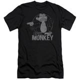 Family Guy Evil Monkey Adult 30/1 T-Shirt Black