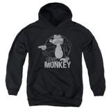 Family Guy Evil Monkey Youth Pullover Hoodie Sweatshirt Black
