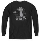 Family Guy Evil Monkey Youth Long Sleeve T-Shirt Black