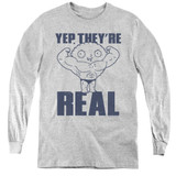Family Guy Real Build Youth Long Sleeve T-Shirt Athletic Heather