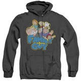 Family Guy Family Fight Adult Heather Hoodie Sweatshirt Black