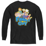 Family Guy Family Fight Youth Long Sleeve T-Shirt Black