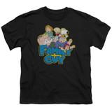 Family Guy Family Fight Youth T-Shirt Black