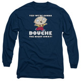 Family Guy Douche The Night Away Adult Long Sleeve T-Shirt Navy