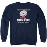 Family Guy Douche The Night Away-Adult Crewneck Sweatshirt-Navy