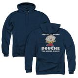 Family Guy Douche The Night Away (Back Print) Adult Zipper Hoodie Sweatshirt Navy