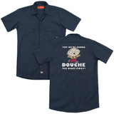 Family Guy Douche The Night Away (Back Print) Adult Work Shirt Navy