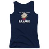 Family Guy Douche The Night Away Junior Women's Tank Top T-Shirt Navy