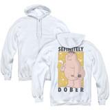Family Guy Dober (Back Print) Adult Zipper Hoodie Sweatshirt White