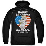 Family Guy American Love Adult Pullover Hoodie Sweatshirt Black