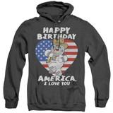 Family Guy American Love Adult Heather Hoodie Sweatshirt Black
