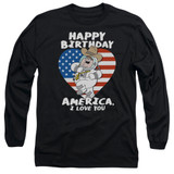 Family Guy American Love Adult Long Sleeve T-Shirt Black