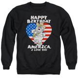 Family Guy American Love-Adult Crewneck Sweatshirt-Black