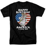 Family Guy American Love Adult 18/1 T-Shirt Black