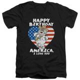 Family Guy American Love Adult V-Neck T-Shirt Black