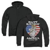 Family Guy American Love (Back Print) Adult Zipper Hoodie Sweatshirt Black