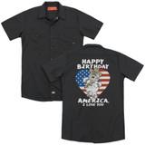 Family Guy American Love (Back Print) Adult Work Shirt Black