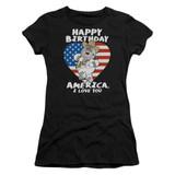 Family Guy American Love Junior Women's Sheer T-Shirt Black