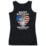 Family Guy American Love Junior Women's Tank Top T-Shirt Black