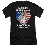 Family Guy American Love Premium Adult 30/1 T-Shirt Black