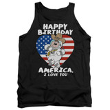 Family Guy American Love Adult Tank Top T-Shirt Black