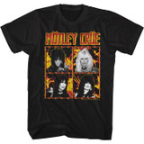Motley Crue Fire And Wire Black Adult T-Shirt