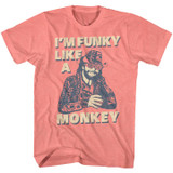 Macho Man Funky Coral Silk Heather T-Shirt