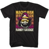 Macho Man Randy Savage Black T-Shirt