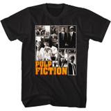 Pulp Fiction Collage Black T-Shirt