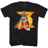 Mega Man Big Zero Black Adult T-Shirt