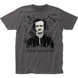 Edgar Allan Poe Raven Fitted Classic Jersey T-Shirt