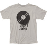 Impact Originals Vinyl Junkie Fitted Classic Jersey T-Shirt