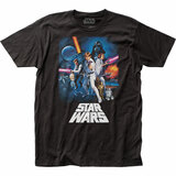 Star Wars New Hope Poster Fitted Classic Jersey T-Shirt