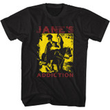 Jane's Addiction Roman On Horse Black Adult T-Shirt