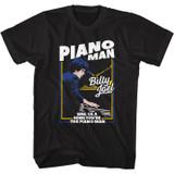 Billy Joel The Piano Man Black Adult T-Shirt