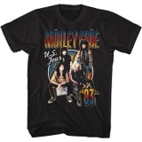 Motley Crue US Tour 83 Black Adult T-Shirt