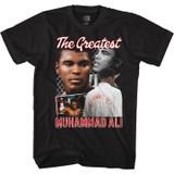 Muhammad Ali Ali Script Collage Black Adult T-Shirt