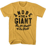 Andre The Giant 8th Wonder of the World Ginger Adult T-Shirt