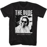 The Big Lebowski The Dude Black Adult T-Shirt