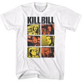 Kill Bill Panels Color White Adult T-Shirt