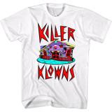 Killer Klowns Crazy House White Adult T-Shirt