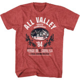 Karate Kid All Valley Champ Red Heather Adult T-Shirt