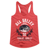 Karate Kid All Valley Champ Red Heather Women's Racerback Tank Top