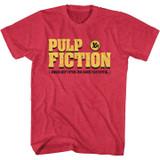 Pulp Fiction Pulp Fiction Logo Cherry Heather Adult T-Shirt
