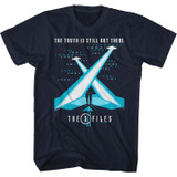 X-Files The Truth Navy Adult T-Shirt