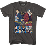 Ace Attorney Choose Your Fighter Smoke Adult T-Shirt