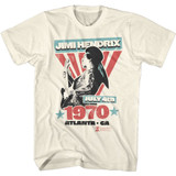 Jimi Hendrix Atlanta Natural Adult T-Shirt