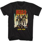 Kiss Love Gun Black Adult Classic T-Shirt