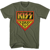 Kiss Army Green Military Green Adult T-Shirt