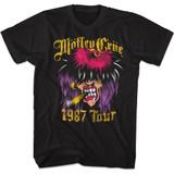 Motley Crue Spray Paint Tour Black Adult T-Shirt